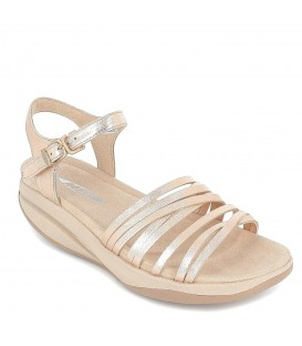 Sandalia de piel MBT para mujer