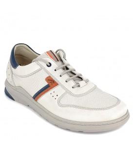 Zapato con cordones para diario cómodo de piel para hombre