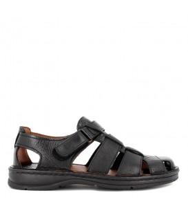 Sandalia de piel semicerrada para hombre