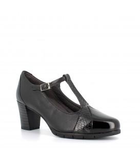 Zapato tacón con hebilla para mujer