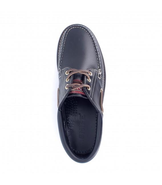 Zapato náutico de piel para hombre SNIPE