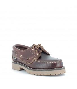 Zapato náutico de piel para mujer SNIPE