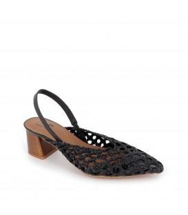 Zapato de salón trenzado PEPE PARRA